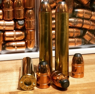 Some 444 Marlin Components on the Author's Reloading Bench